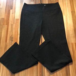 CAbi Charcoal Gray Ponte Knit Flare Leg Pants